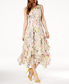 I.N.C. Petite Ruffled-Lace Maxi Dress, Created for Macy's