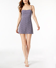 French Connection Printed Sweetheart-Neck Mini Dress