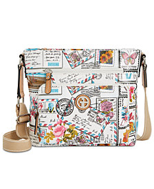 Giani Bernini Coated Canvas Crossbody, Created for Macy's