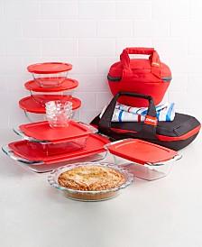 Pyrex 21-Pc. Portable Prep & Bake set