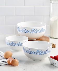 Corningware Cornflower 3-Pc. Mixing Bowl Set