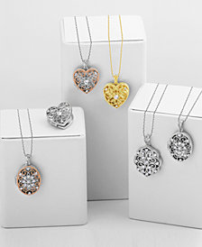Giani Bernini Vintage-Inspired Locket Collection, Created for Macy's