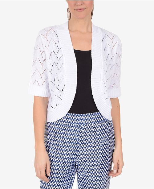 Cardigan Open Front Collection White NY a6qtq