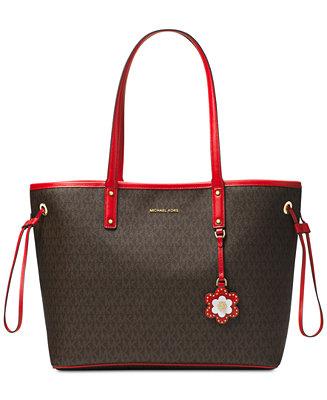 c2c194591857 Michael Kors Carter Signature Large Tote   Reviews - Handbags   Accessories  - Macy s
