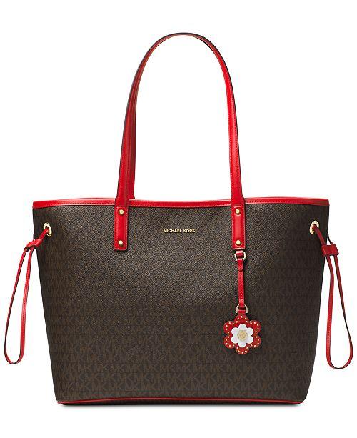 52e4dff3678b Michael Kors Carter Signature Large Tote   Reviews - Handbags ...