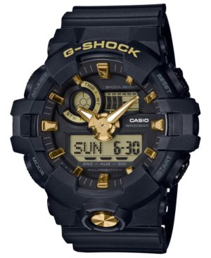 G-SHOCK Ga710 Analog And Digital Strap Watch in Black
