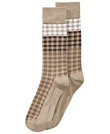 Perry Ellis Men's Superior Soft Plaid Dress Socks
