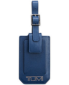 Tumi Men's Leather Luggage Tag