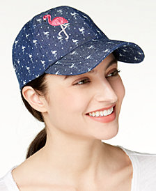 August Hats Flamingo Denim Baseball Cap