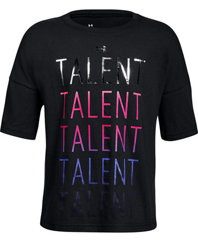 Under Armour Talent-Print T-Shirt, Big Girls