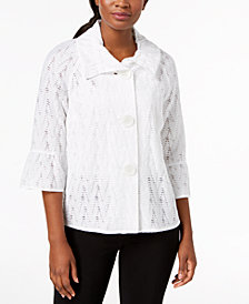 JM Collection Lace Jacket, Created for Macy's
