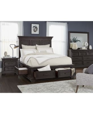 Hansen Storage Bedroom Furniture, 3-Pc. Set (Queen Bed, Nightstand, and Chest), Created for Macy's