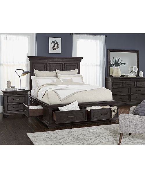 Hansen Storage Bedroom Furniture, 3-Pc. Set (California King Bed,  Nightstand, and Dresser), Created for Macy\'s