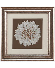 "Harbor House Blossom Decorative Embroidered Flower 23"" x 23"" Framed Wall Art"