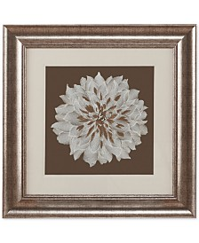 """Harbor House Blossom Decorative Embroidered Flower 23"""" x 23"""" Framed Wall Art"""