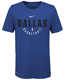 Nike Dallas Mavericks Elite Practice T-Shirt, Big Boys (8-20)