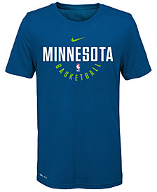 Nike Minnesota Timberwolves Elite Practice T-Shirt, Big Boys (8-20)