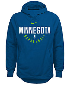 Nike Minnesota Timberwolves Elite Practice Hoodie, Big Boys (8-20)