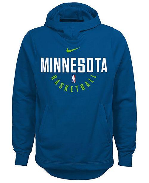 Nike Minnesota Timberwolves Elite Practice Hoodie Big Boys 8 20