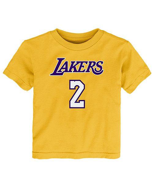 Christmas Tree Lane Los Angeles: Nike Lonzo Ball Los Angeles Lakers Replica Name & Number T