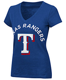 G-III Sports Women's Texas Rangers Classic Logo V-Neck T-Shirt