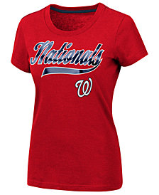 G-III Sports Women's Washington Nationals Script Foil T-Shirt