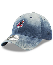 New Era Cleveland Indians Denim Wash Out 9TWENTY Cap