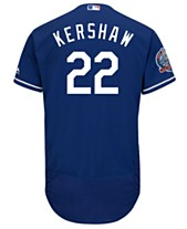 Majestic Men s Clayton Kershaw Los Angeles Dodgers Flexbase 60th  Anniversary Patch Jersey 8c20c2e3422