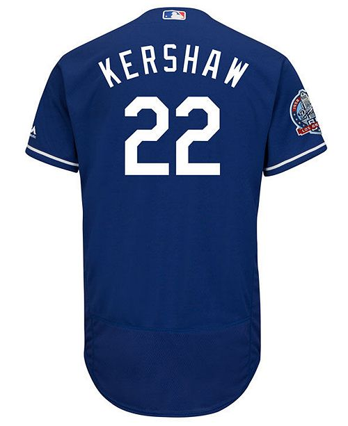 ... Majestic Men s Clayton Kershaw Los Angeles Dodgers Flexbase 60th  Anniversary Patch Jersey ... 7f80ead2029