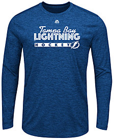 Majestic Men's Tampa Bay Lightning Crash the Net Long Sleeve T-Shirt