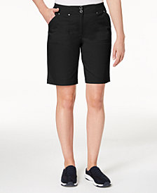 Karen Scott Ribbed-Waist Utility Shorts, Created for Macy's