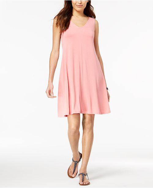 Style Co Petite Cross Back Swing Dress Created For Macys