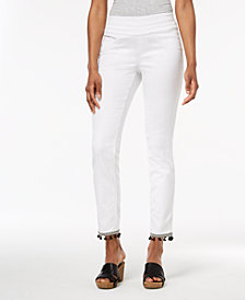 Style & Co Comfort-Waist Pom-Pom-Hem Pants, Created for Macy's