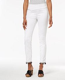 Style & Co Comfort-Waist Pom-Pom-Hem Pants, Created for Macy's