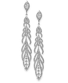 Danori Crystal and Pavé Statement Drop Earrings, Created for Macy's