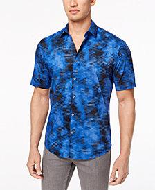 Alfani Men's Geo Cloud-Print Shirt, Created for Macy's