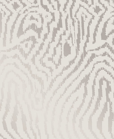 Cynthia Rowley for Tempaper Zebra Silver Self-Adhesive Wallpaper