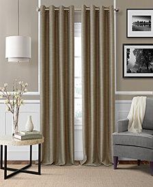 "Elrene Brooke 52"" x 95"" Faux-Silk Blackout Grommet Curtain Panel"