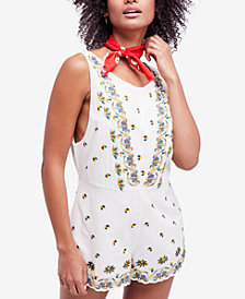 Free People Margarita Sleeveless Embroidered Romper