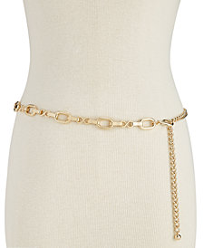 I.N.C. Metal Chain Belt, Created for Macy's