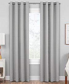 Hudson Hill Raw Faux-Silk Grommet Window Panels