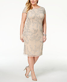 Adrianna Papell Plus Size Sequined Dress