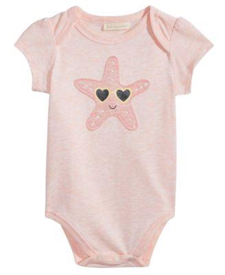 Starfish Graphic-Print Bodysuit, Baby Girls, Created for Macy's