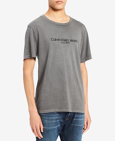 Calvin Klein Jeans Men's Big & Tall Old School Logo-Print T-Shirt