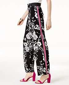 I.N.C. Side-Stripe Palazzo Pants, Created for Macy's