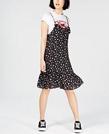 NICOPANDA Layered Printed T-Shirt Dress