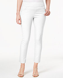 Style & Co Petite Slim-Leg Pants, Created for Macy's