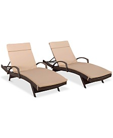 Jonathan Outdoor Chaise Lounge (Set Of 2), Quick Ship