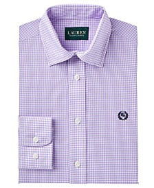 Lauren Ralph Lauren Checked Dress Shirt, Big Boys