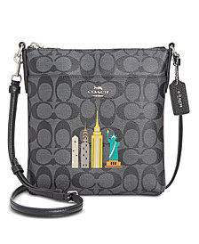 COACH NY Stories Skyline Signature Crossbody, Created for Macy's